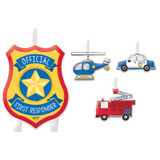 First Responders Emergency Services Birthday Candle Set - 4 Pack