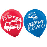 First Responders Emergency Services Latex Balloons - 6 Pack