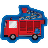 First Responders Emergency Services Fire Engine Shaped Plates - 8 Pack