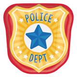 First Responders Emergency Services Police Dept Plates - 8 Pack
