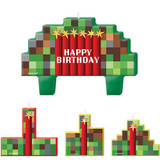 Minecraft Inspired TNT Party Mini Moulded Birthday Candle Set - 4 Pack
