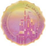 Disney Princess Once Upon a Time Foil Dinner Plates - 8 Pack