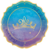 Disney Princess Once Upon a Time Foil Lunch Plates - 8 Pack