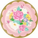 Floral Tea Party Dinner Plates - 8 Pack