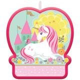 Magical Unicorn Shaped Cake Candle