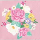 Floral Tea Party Beverage Napkins - 16 Pack