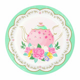 Floral Tea Party Lunch Plate - 8 Pack