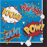 Superhero Slogans Lunch Napkins - 16 Pack