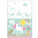Magical Unicorn Plastic Tablecover 137cm x 243cm