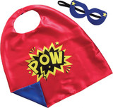 Superhero Pow Cape and Mask Set