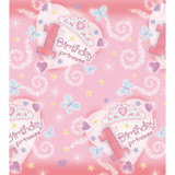1st Birthday Princess Paper Tablecover (137cm x 259cm)