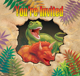 Dino Blast Dinosaur Invitations with Envelopes - 8 Pack