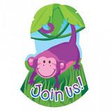 Jungle Animals Postcard Invitations - 8 Pack