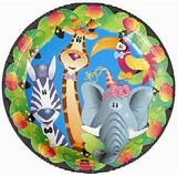 Jungle Animals 22.9cm Dinner Plates - Pack of 8