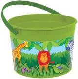 Jungle Animals  Plastic Favour Container with Handle