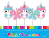 Pretty Owls Small Pick Candles - 5 Pack