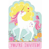 Magical Unicorn Invitations - 8 Pack