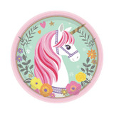 Magical Unicorn Luncheon Plates - 8 Pack