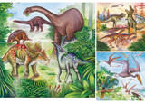 Fascinating Dinosaurs Puzzle - 3 Puzzles x 49 Pieces Each