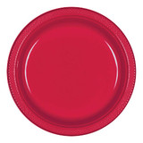 Apple Red Plastic Banquet Plates 26cm - Pack of 20