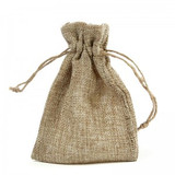 Hessian Favour Bag - Approx Size: 10 x 14cm