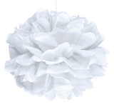 White Puff Ball Decoration - 40cm