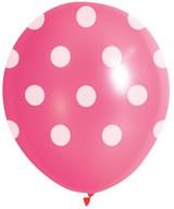 Pink Spot Balloons - 10 Pack