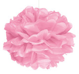Pink Puff Ball Decoration - 40cm