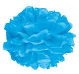 Blue Puff Ball Decoration - 40cm