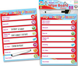 Magnetic Wipe Board Planner with Marker