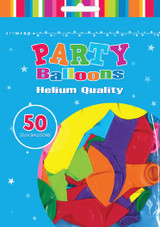 Assorted Coloured Balloons - Pack of 50