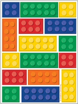 Lego Inspired Block Party Sticker Sheets - 4 Sheets