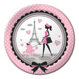 Party in Paris 22.2cm Dinner Plates - 8 Pack