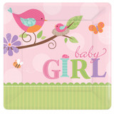 Tweet Baby Girl 17.8 cm Luncheon Plate - 8 Pack