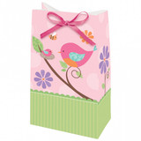 Tweet Baby Girl Favour Bags with Ribbon - 12 Pack