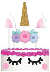 Unicorn Party Cake Topper Pack - 8 Pieces