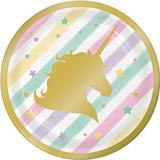 Unicorn Sparkle 17.4cm Lunch Plates - 8 Pack