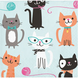Purrfect Kitty Cat Party Beverage Napkins - Pack of 16