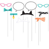 Purrfect Kitty Cat Party Photo Booth Props - Pack of 10