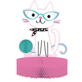 Purrfect Kitty Cat Party Honeycomb Centrepiece