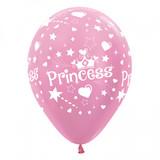 Princess Pearl Pink Balloons - Pack of 6