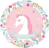 Unicorn Party Happy Birthday Foil Balloon - 45 cm