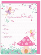 Garden Fairy Invitations - 8 pack with envelopes