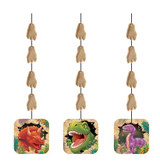 Dino Blast Dinosaur Fancy Hanging Cutouts - 3 Pack
