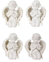 10 cm Kneeling Praying Cherubs - Set of 4