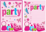 Tween Girl Padded Invitations - 20 sheets