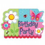Garden Party Girl Invitations - 8 Pack