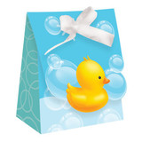 Bubble Bath Baby Favour Bags with Ribbon - Pack of 12