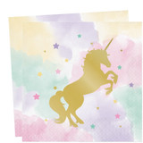 Unicorn Sparkle Luncheon Napkins - Pack of 16