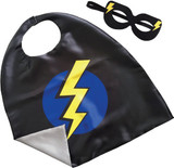 Superhero Lightning Bolt Cape and Mask Set